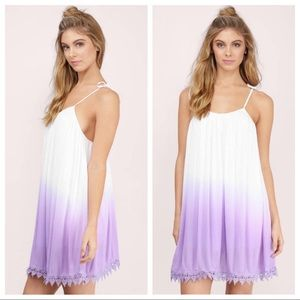 Tobi Dresses - Tobi Ivory & Lavender Ombré Shift Dress